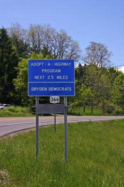 Dryden Democrats adopt a highway