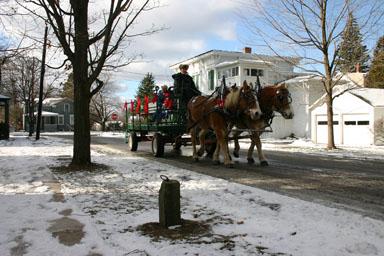 A horse & wagon history tour.