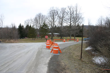 Revised intersection of Ellis Hollow Creek and Genung Roads