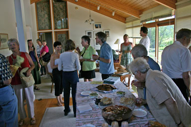 Opening the Studio with food and conversation