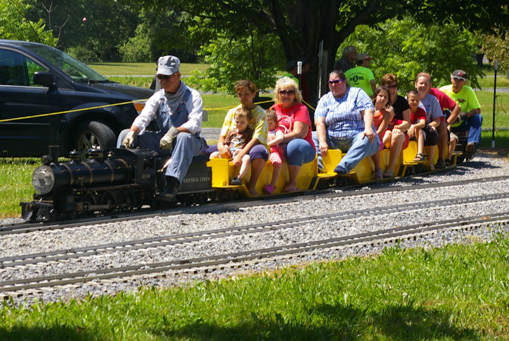 Riding the train. - Living In Dryden: Free Train Rides At Finger Lakes Live Steamers