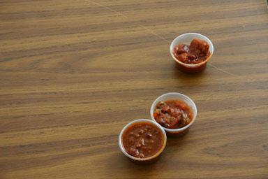 Chili samples.
