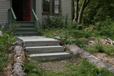 Front walkway.