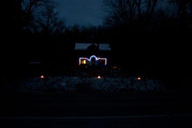 House, lights, and lanterns.