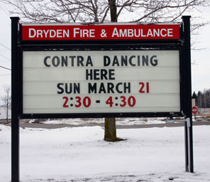 Contra dancing coming to Dryden Fire Hall