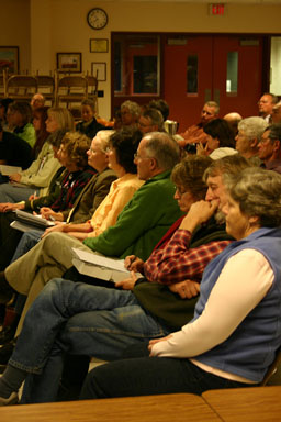 Audience at candidates forum.