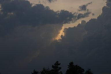 Sunset along 366